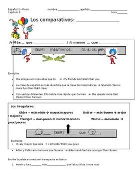 Los comparativos - Comparisons