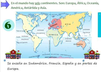 Los continentes learning the continents and oceans in spanish tpt los continentes learning the continents and oceans in spanish gumiabroncs Choice Image