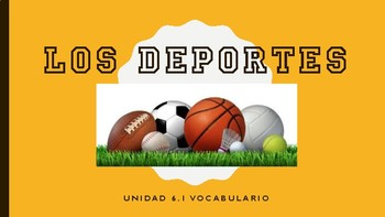 Los deportes - Spanish Sports Vocabulary PPT - Avancemos 6.1