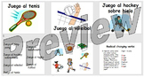 Los deportes - learning the names of the sports in Spanish