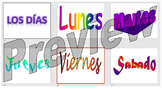 Los días - learning the days of the week in Spanish
