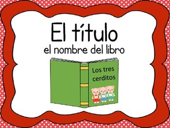 Los elementos de un cuento / Fiction Text Elements - version roja