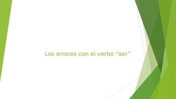 """Los errores con """"ser"""""""