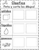 Los estados de la materia:  Clasificando solidos, liquidos, y gaseosos