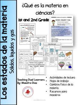 Los estados de la materia en ciencias by Teaching Dual Learners | TpT