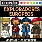 Los exploradores europeos paquete / European Explorers in Spanish