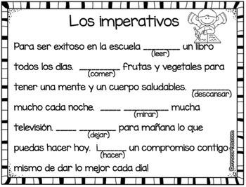 Los imperativos en español