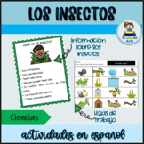 Los insectos | Actividades | Insect Activities in Spanish