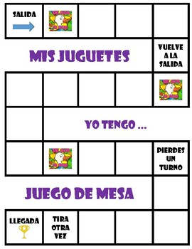 Los juguetes  - Board Game + Free Make-Your-Own (Blank) Version