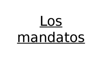 Los mandatos (Commands) Interactive Foldable and Powerpoint