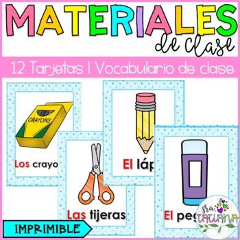 Los materiales para la clase/ School supplies