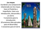 Los mayas (PPT, grammar worksheet and writing prompt)