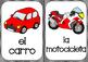Los medios de transporte Tarjetas de vocabulario