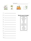 Los meses del ano- Months of the Year Worksheet