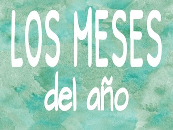 Los meses del año, Spanish Months of the Year, Watercolor Theme