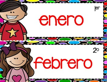 Los meses del año con números ordinales/The Months of the Year with ordinal #s