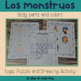 El cuerpo y los colores Body parts and colors Logic Puzzle