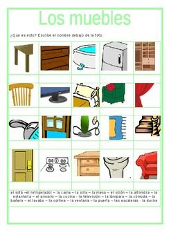 Los muebles / Furniture