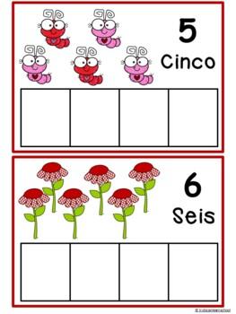 Los números 1-10. Valentine Edition in Spanish