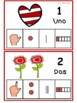 Los números 1-10. Valentine Edition in Spanish