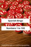 Los números 1 a 100 Bingo