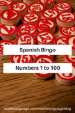 Spanish Bingo: Numbers 1 to 100