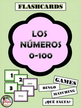 Los numberos / Spanish numbers 0-100 Flash Cards and Bingo