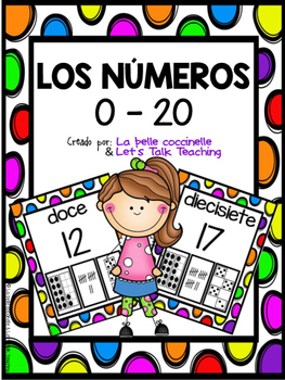 Los números 0-20 (Spanish Number Posters from 0 to 20)