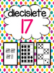 Los números 0-20 (Spanish Number Posters from 0 to 20) - polka dots