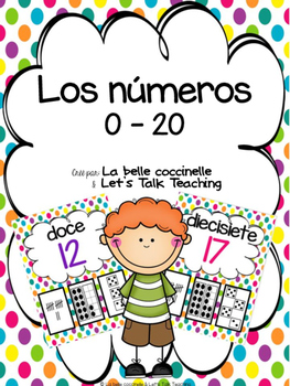 Los números 0-20 (Spanish Number Posters from 0 to 20) - p