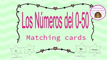 Los Números 0-50. Matching Cards.