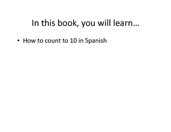 Los numeros 1-10 Easy Reader for Young or Novice Learners