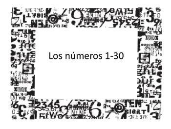 Los números 1-30
