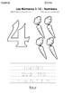 Los números 1 al 10 - Numbers 1 to 10 - Páginas para Colorear - Coloring Pages