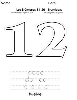 Los Numeros 11 Al 20