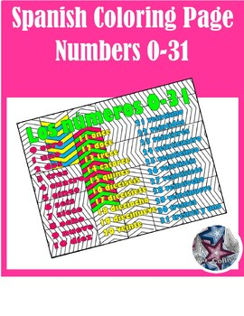 Los números Numbers 0-31 - Spanish Adult Coloring Pages