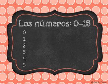 Los números / Numbers Freebie