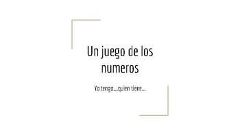 Los numeros - Yo Tengo....Quien Tienes