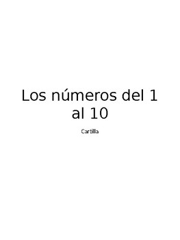 Los números del 1 al 10 - The number 1 to 10 for to edit