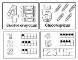 Los numeros del 1 al 10 minibook / numbers 1 to 10 in Span