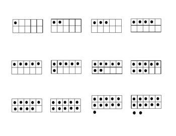 Los numeros en 7 representaciones - centro