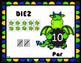 Los números en el tema de Dragón