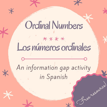 Los números ordinales / Activity to practice ordinal numbers in Spanish