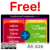 Condicional compuesto de Indicativo en Español.