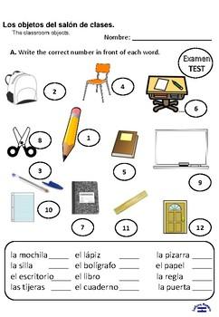 Los objetos de la clase TEST 3rd grade