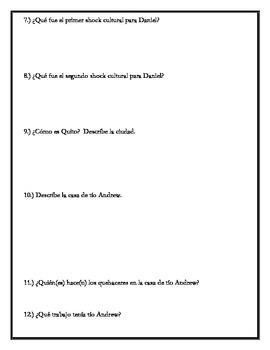 Los ojos de Carmen - Chapter 2 Questions