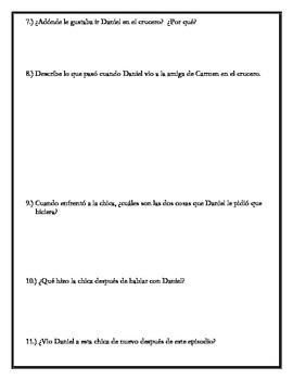 Los ojos de Carmen - Chapter 8 Questions