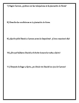 Los ojos de Carmen - Chapter 9 Questions
