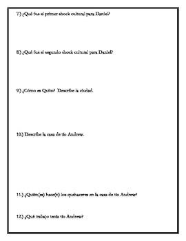 Los ojos de Carmen - Chapters 1-11 Comprehension Questions