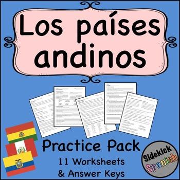 Los países andinos Comprehension and Review